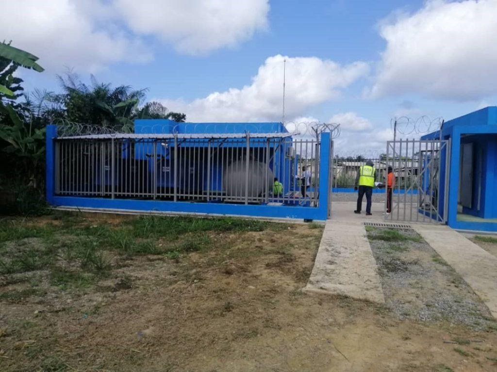 CT de Lambaréné la fibre optique au Gabon AXE NORD BNG